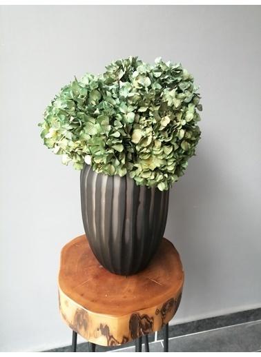 Kuru Çiçek Deposu Solmayan Gerçek Ortanca Buketi  Natural (Yeşil) 4-5 Adet , Kuru Çiçek Yeşil